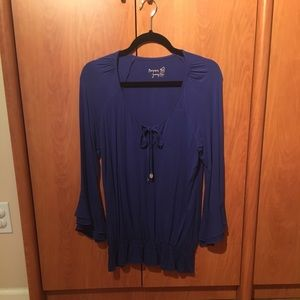 Tops - Patrizia Pepe Jersey Top in Blue, size 2
